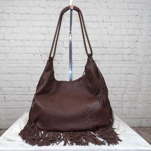 HOBO Brand Fringe leather hobo